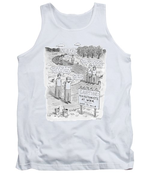 Groups Of Construction Workers Paralyzed Tank Top