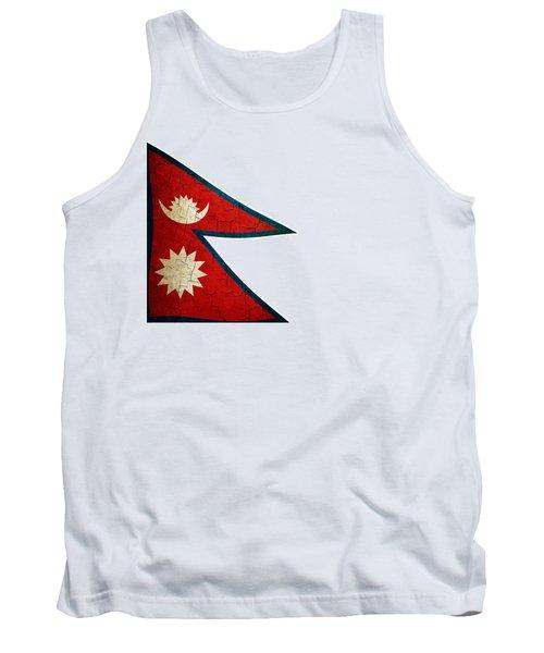 Grunge Nepal Flag Tank Top
