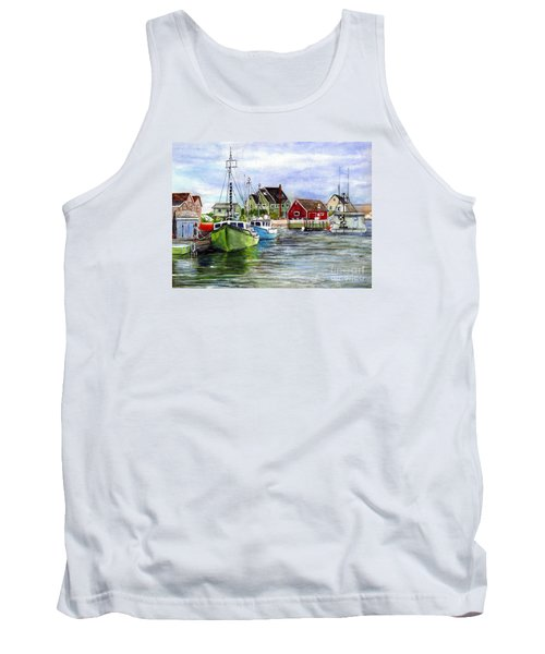 Peggys Cove Nova Scotia Watercolor Tank Top