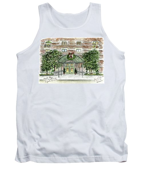 Happy Holidays At 1919 Madison Avenue In Harlem Tank Top by AFineLyne