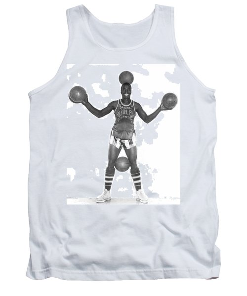 Harlem Globetrotters Player Tank Top by Underwood Archives