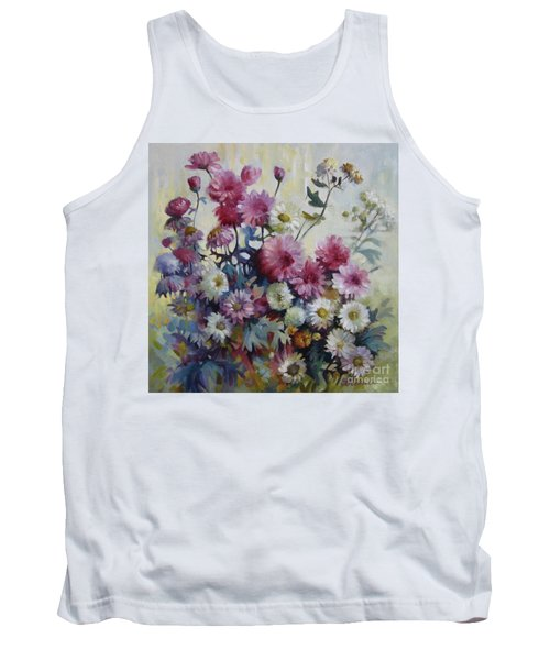 Tank Top featuring the painting Harmonies Of Autumn by Elena Oleniuc