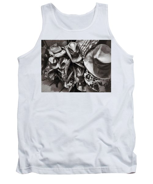 Hat Check Tank Top by Mark David Gerson