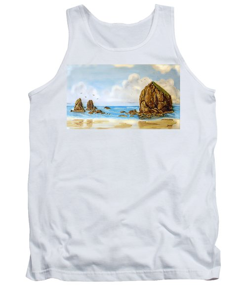 Tank Top featuring the relief Haystack Relief by Wendy McKennon