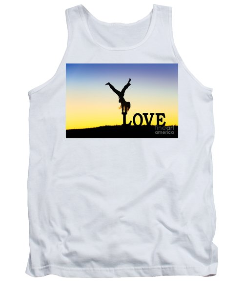 Tank Top featuring the photograph Head Over Heels In Love by Tim Gainey