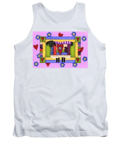 Heart For Ewe Tank Top by Tracy Campbell