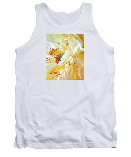 Tank Top featuring the photograph Heart Of Peony by Nareeta Martin