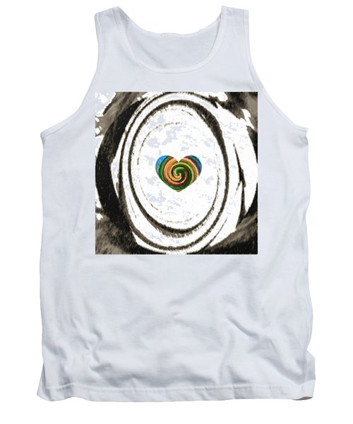 Tank Top featuring the digital art Heart Within by Catherine Lott
