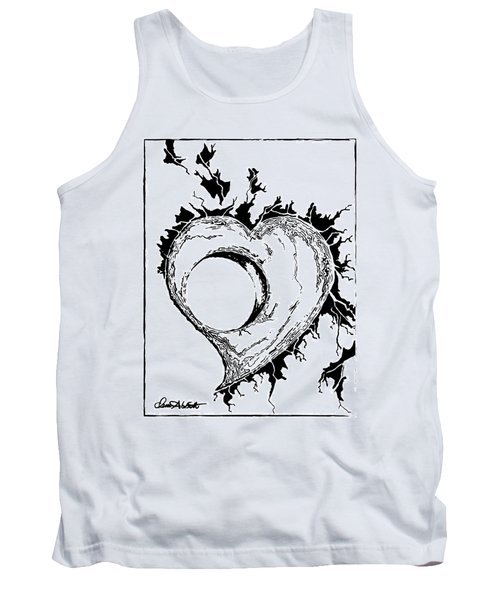 You Left A Whole In My Heart Tank Top by Dani Abbott
