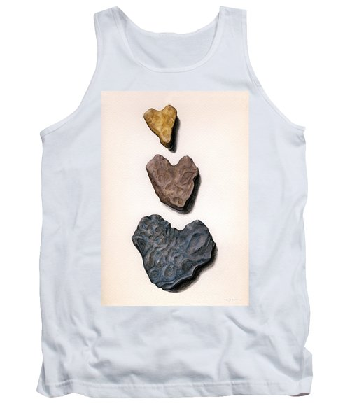Hearts Rock Tank Top by Janice Dunbar