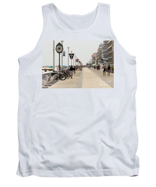 Heat Waves Make The Boardwalk Shimmer In The Distance Tank Top
