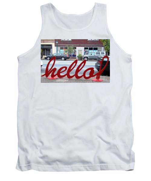 Hello Tank Top by Kelly Awad