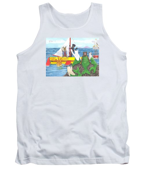 Hello Mer Kitties Tank Top