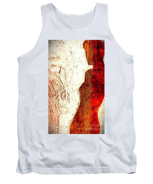 Her Red Silhouette Tank Top by Jacqueline McReynolds