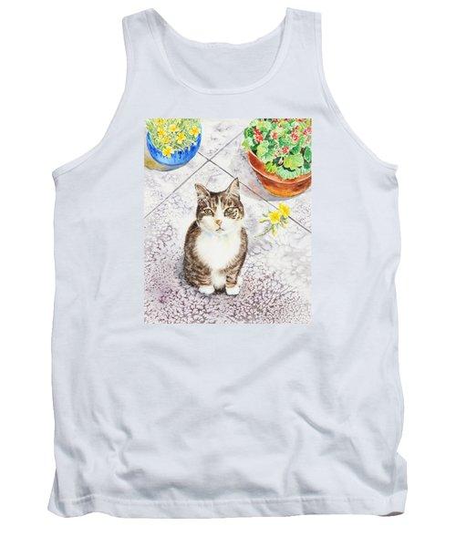 Here Kitty Kitty Kitty Tank Top by Irina Sztukowski