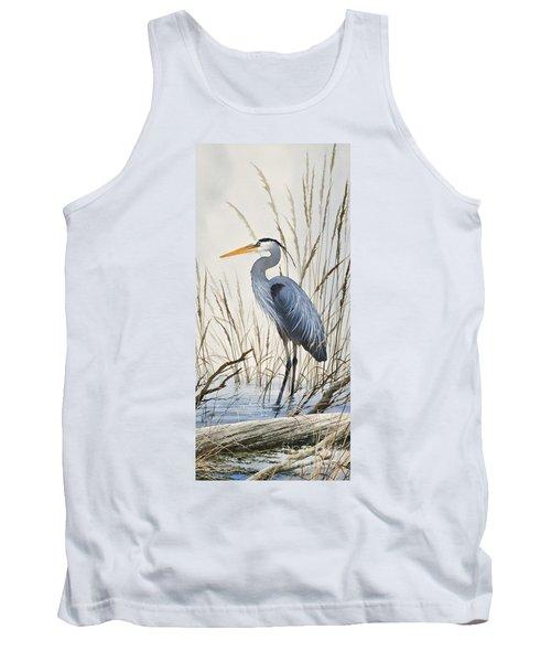 Herons Natural World Tank Top by James Williamson
