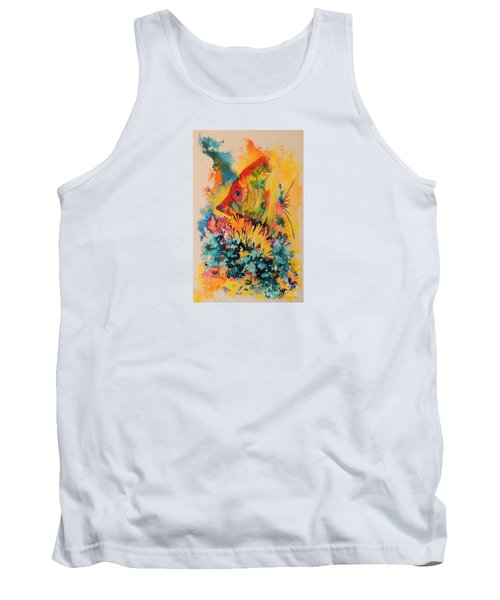 Tank Top featuring the painting Hiding Amongst The Coral by Lyn Olsen