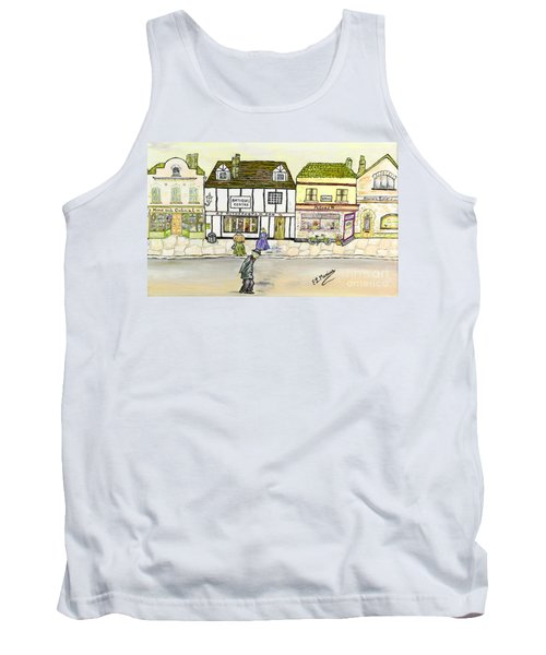 Tank Top featuring the painting High Street by Loredana Messina
