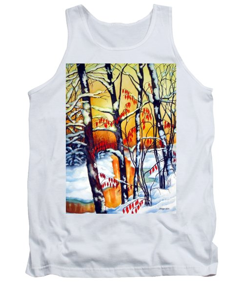 Highland Creek Sunset 2  Tank Top by Inese Poga