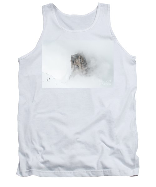 Hiking The Tre Cime In Winter Tank Top by IPics Photography