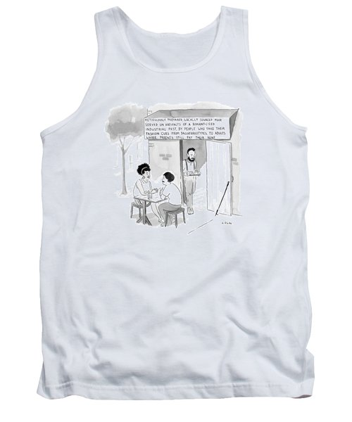 Hipsters At A Restaurant Building Called Tank Top