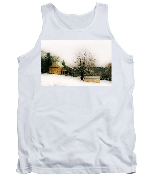 Tank Top featuring the photograph Historic 1700's Farmhouse by Polly Peacock