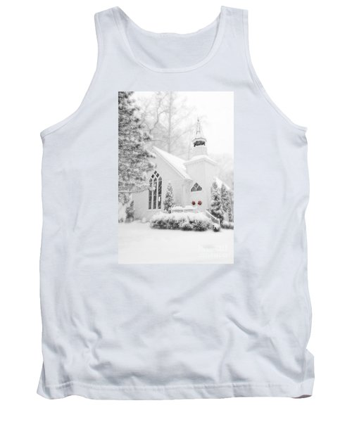 Tank Top featuring the photograph White Christmas In Oella Maryland Usa by Vizual Studio