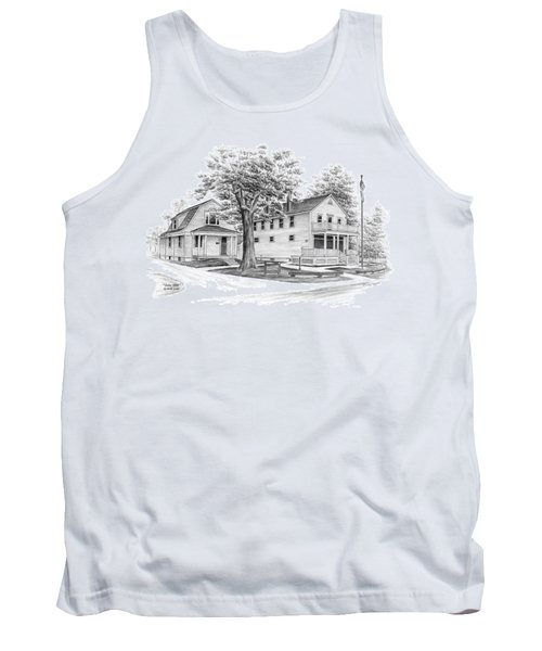 Tank Top featuring the drawing Historic Jaite Mill - Cuyahoga Valley National Park by Kelli Swan