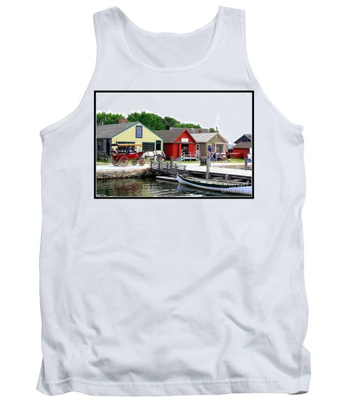 Historic Mystic Seaport Tank Top by Dora Sofia Caputo Photographic Art and Design