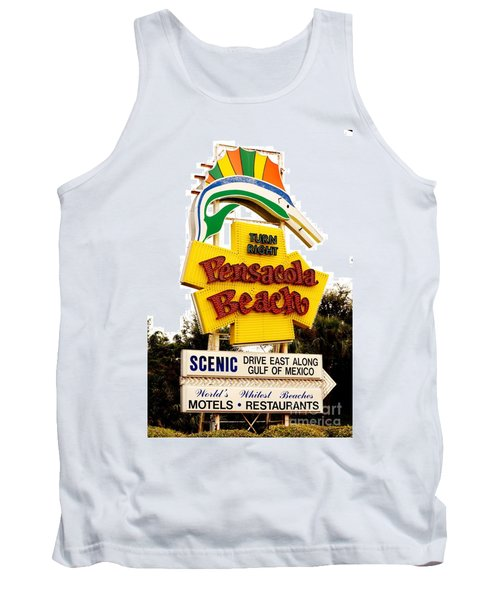 Historic Pensacola Beach Sign Tank Top