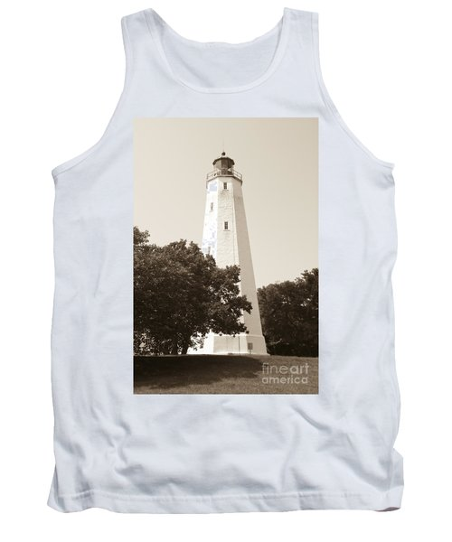 Historic Sandy Hook Lighthouse Tank Top by Anthony Sacco