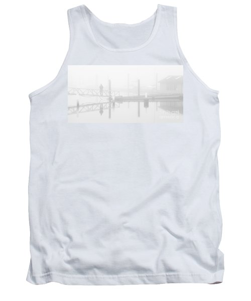 Historic Stewart Farm In The Fog Tank Top