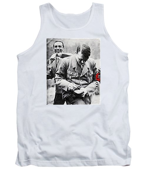 Hitler And Goebbels  As The German Chancellor Signs An Autograph  Tank Top