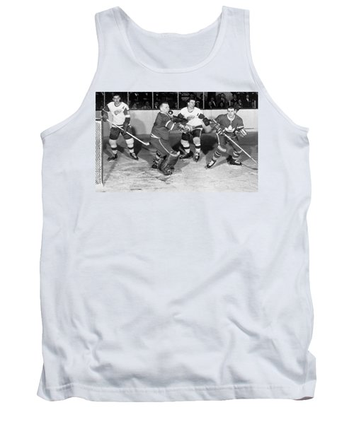 Hockey Goalie Chin Stops Puck Tank Top