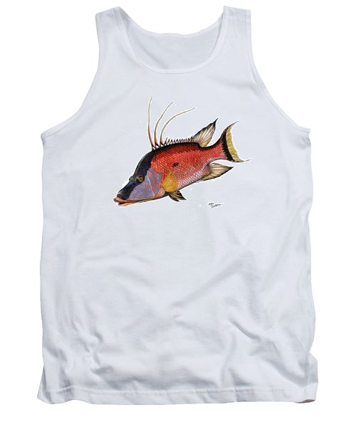 Hogfish On White Tank Top