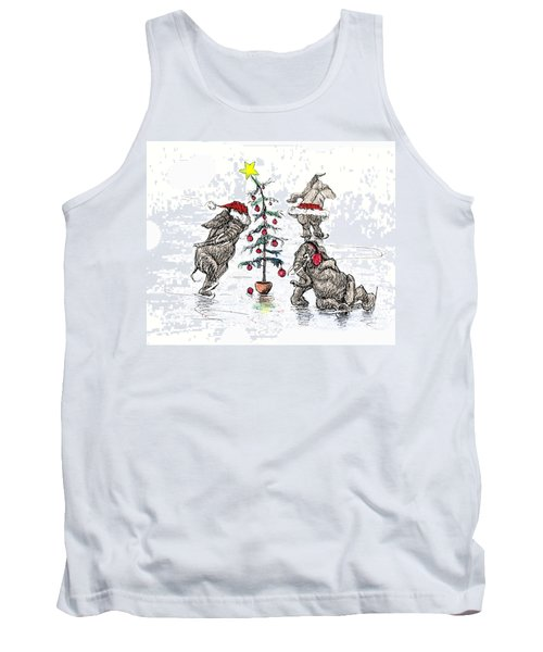 Holiday Ice Tank Top by Donna Tucker