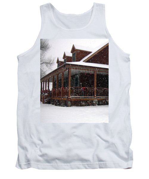 Holiday Porch Tank Top by Claudia Goodell