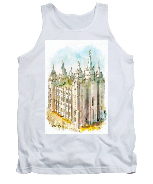 Tank Top featuring the painting Holiness To The Lord by Greg Collins