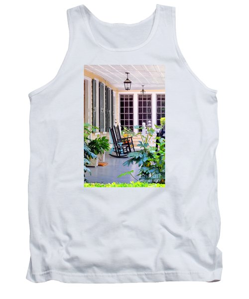 Veranda - Charleston, S C By Travel Photographer David Perry Lawrence Tank Top by David Perry Lawrence