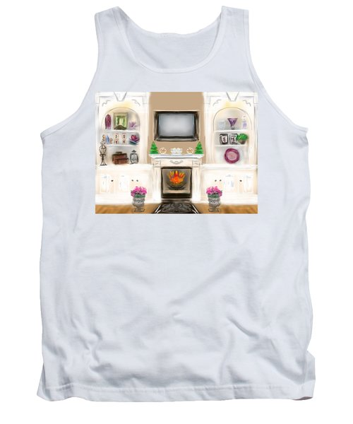 Tank Top featuring the digital art Home For The Holidays by Christine Fournier