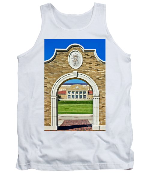 Tank Top featuring the photograph Homecoming Bonfire Arch by Mae Wertz