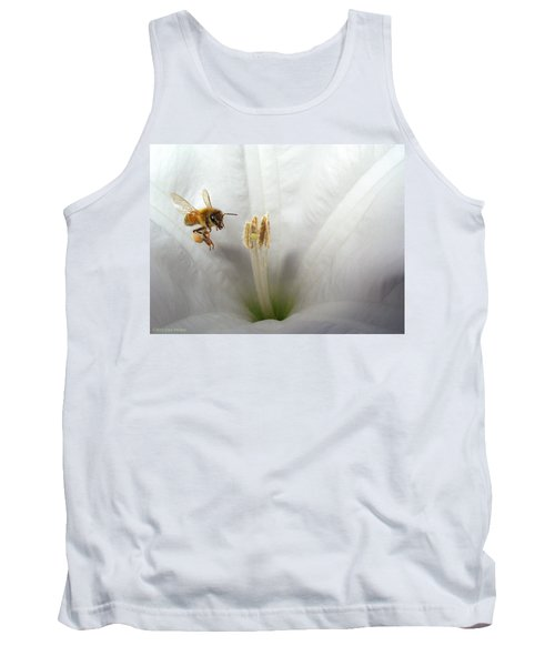 Honey Bee Up Close And Personal Tank Top