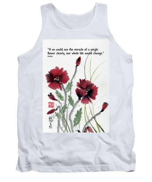 Tank Top featuring the painting Honor With Buddha Quote I by Bill Searle