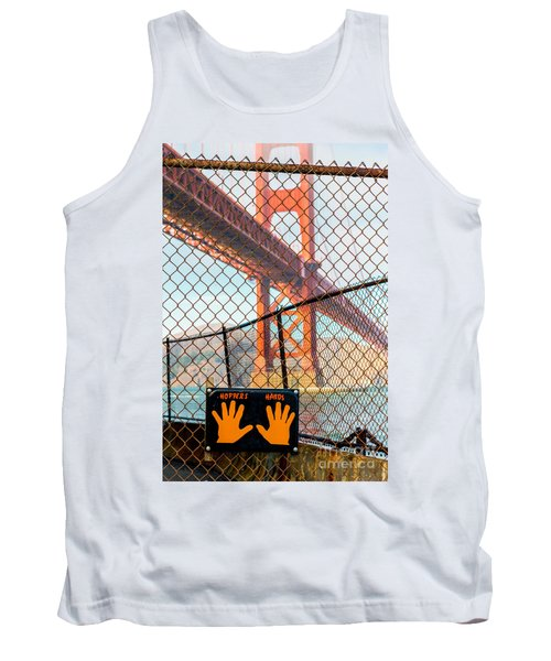 Hoppers Hands Tank Top by Jerry Fornarotto