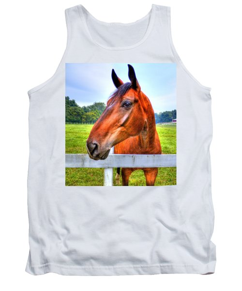Horse Closeup Tank Top by Jonny D