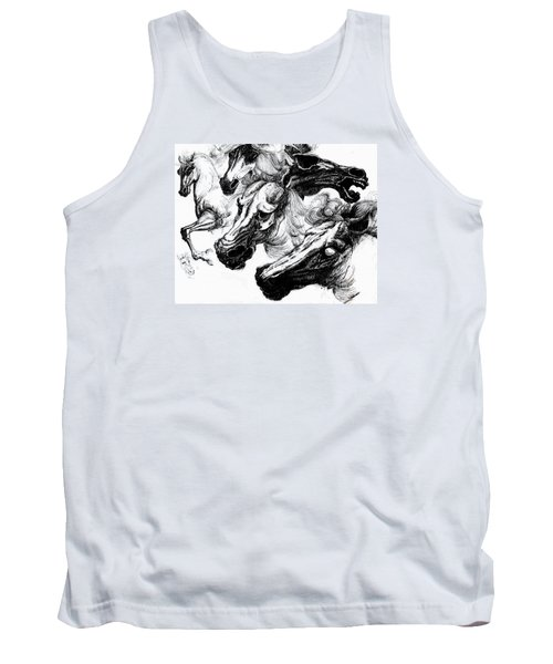 Horse Ink Drawing  Tank Top