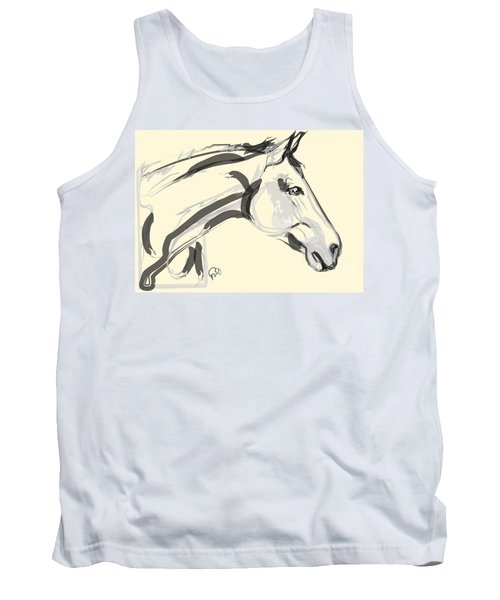 Tank Top featuring the painting Horse - Lovely by Go Van Kampen