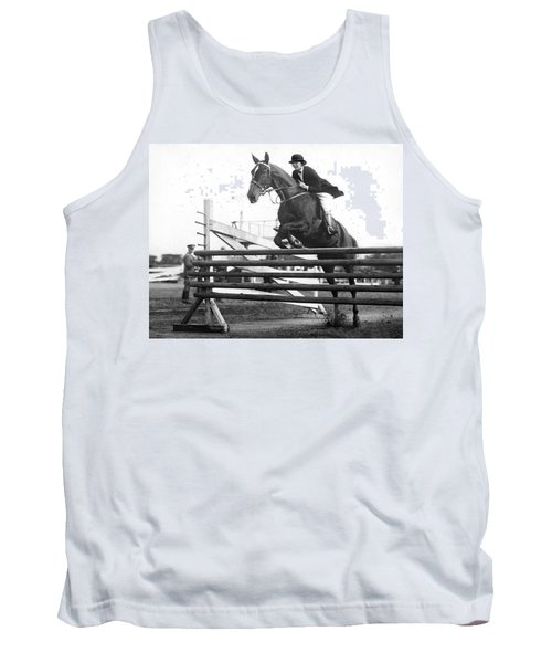 Horse Taking Jump Tank Top