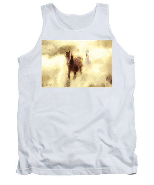 Horses Of The Mist Tank Top by Greg Collins