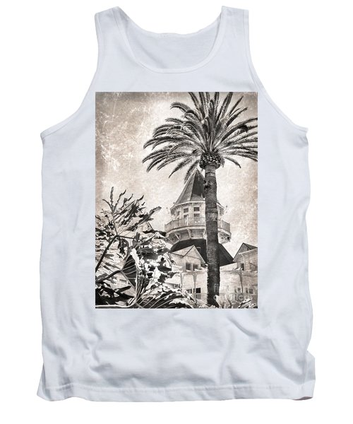 Tank Top featuring the photograph Hotel Del Coronado by Peggy Hughes